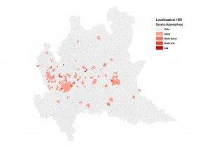Localizzazione delle aziende nel 1991