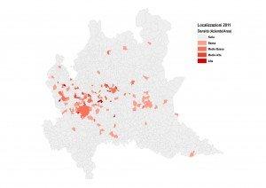 Localizzazione delle aziende nel 2011