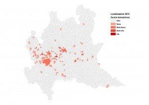 Localizzazione delle aziende nel 2015