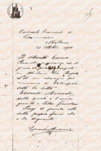 Dichiarazione autografa di Edoardo Bianchi, Archivio storico Camera di Commercio di Milano