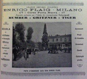 """""""Pista di esercizio"""" della ditta Enrico Flaig, Guida Savallo 1899"""
