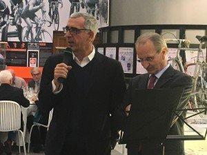 Pier Bergonzi, vicedirettore de La Gazzetta dello Sport, testimonia amicizia e affetto al Museo in occasione della cena di gala per i 10 anni dall'inaugurazione